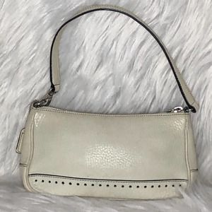 Coach Vintage off white leather bag